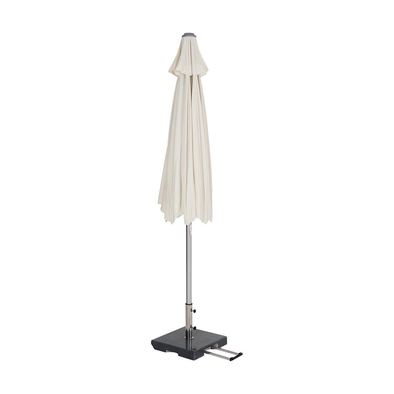 Andria tiltbart parasoll i silver och ljust beige från Brafab.