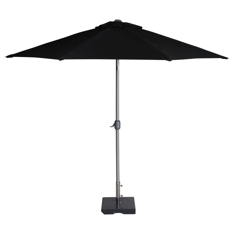 Andria tiltbart parasoll i svart från Brafab.