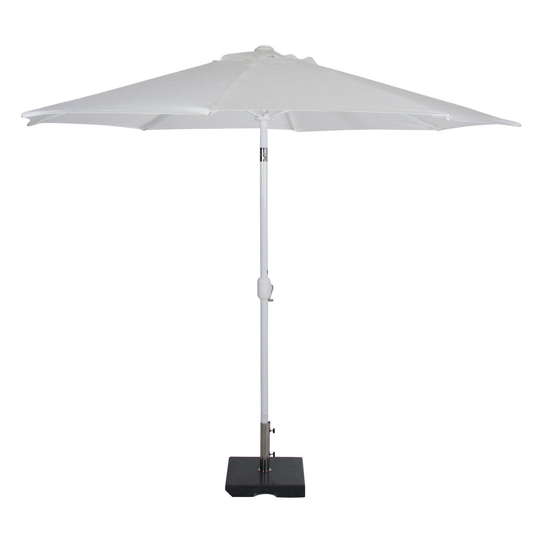Andria parasoll i vit olefin från Brafab.