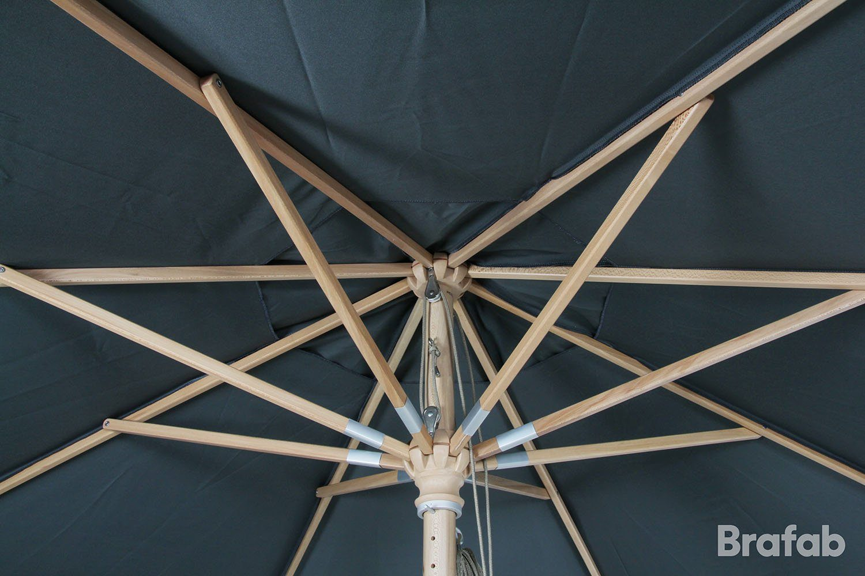 Reggio parasoll i grått från Brafab.
