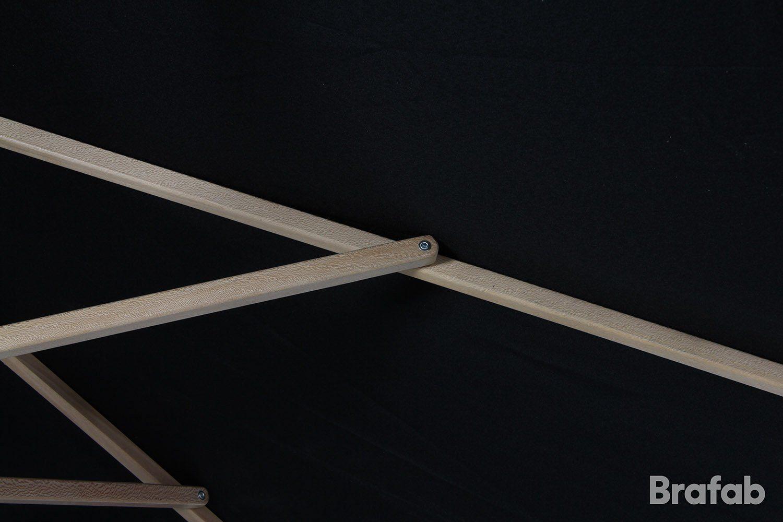 Detaljbild på Reggio parasoll i svart från Brafab.