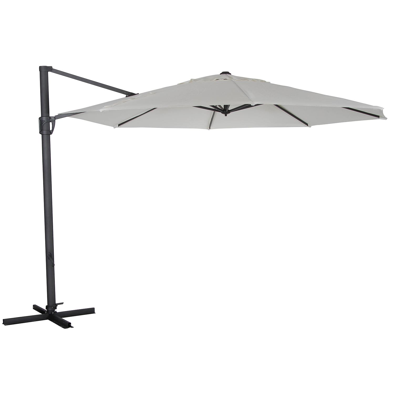 Fiesole parasoll i vitt obraviatyg från Brafab.