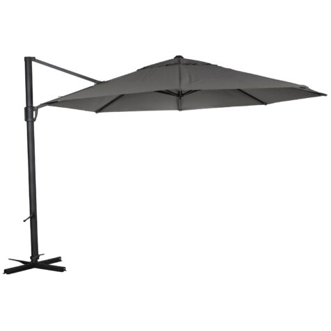 Fiesole parasoll i grått obraviatyg från Brafab.