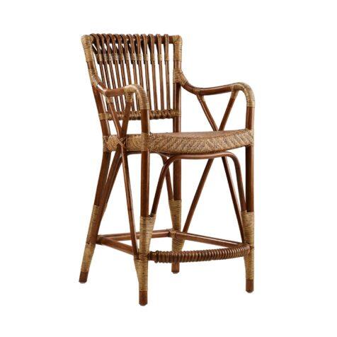 Blues barstol i antikfärgad naturrotting från Sika Design.