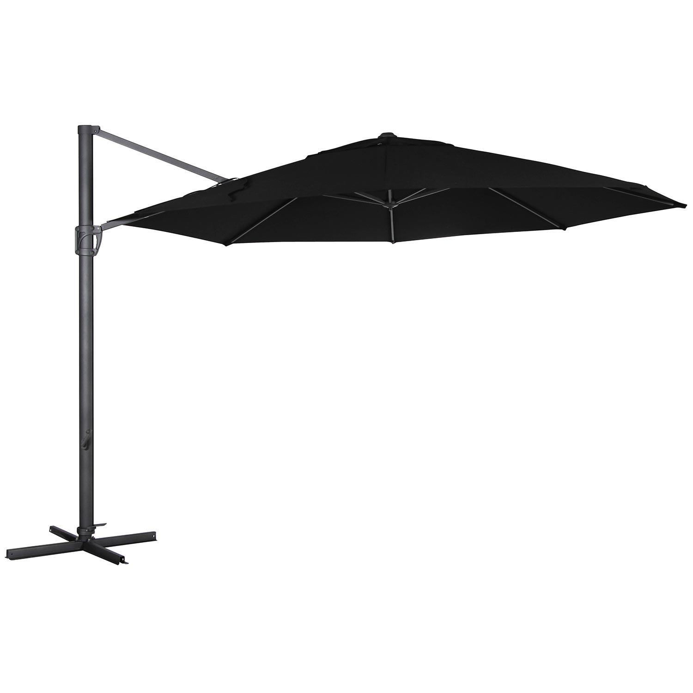 Fiesole parasoll i svart obraviatyg från Brafab.