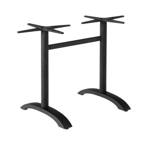 Brafab Avila bordsstativ svart aluminium, passar till 120 cm skivor