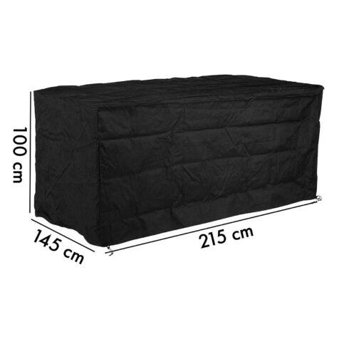 Möbelskydd från Cane-Line i svart polyester för matgrupper.