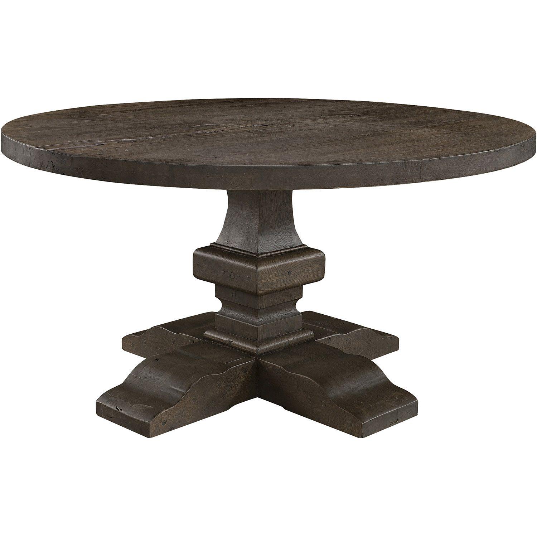 Paris runt matbord i mörkbrun ek från Artwood.