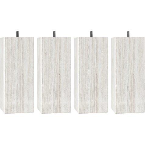 Massiva träben med måtten 8x8 cm från Hilding, dessa i vitlasyr.