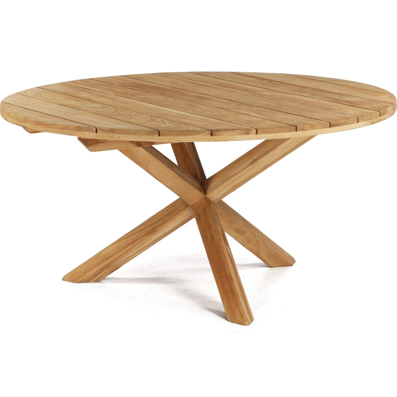 X-teak matbord i naturell teak från Atleve i storleken 150 cm.