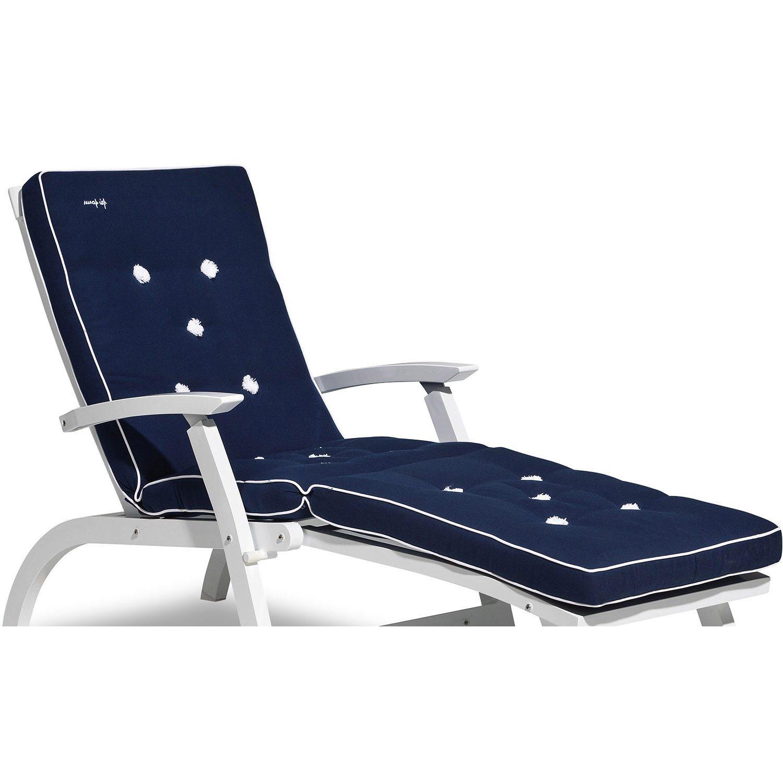 En blå däckstolsdyna till Fri Forms däckstol.