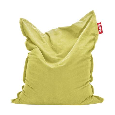 Bild på stentvättad sackosäck i färgen limegrön.