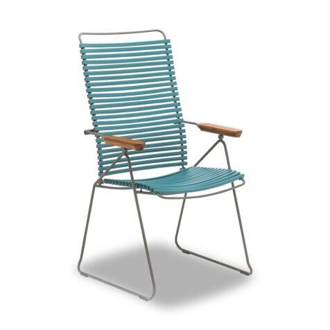 En click positionsstol i färgen Petrol från Houe.