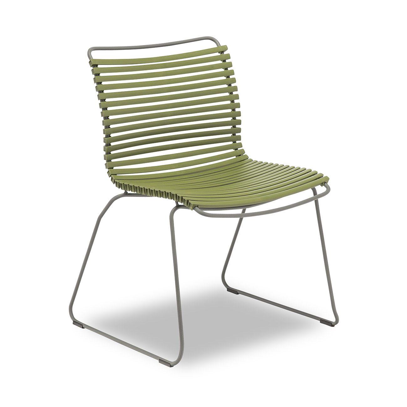Olivgrön click matstol från Houe.