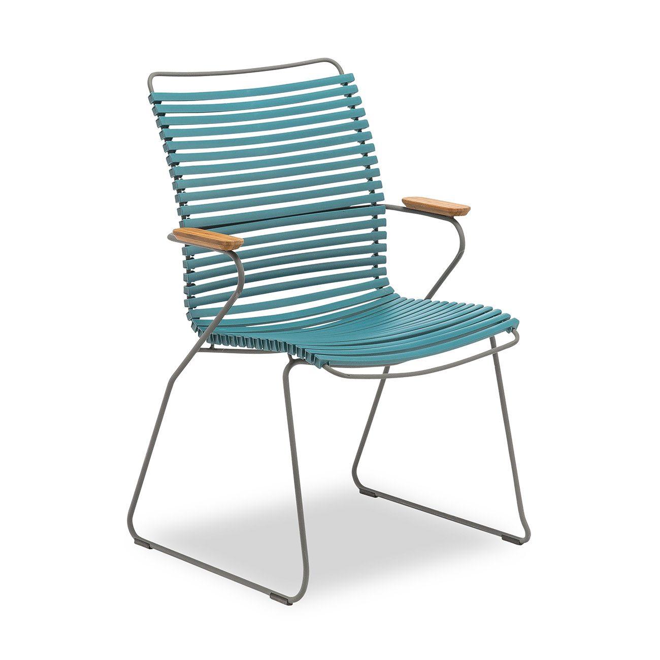 Houes click karmstol med hög rygg i färgen Petrol.