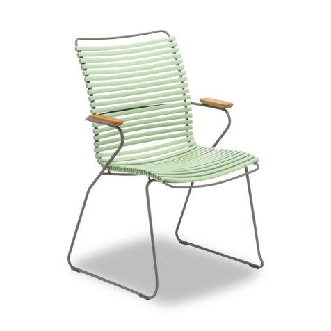 Click karmstol med högt ryggstöd i färgen dusty green.