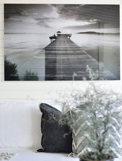 Miljöbild på Pier fototavla från Artwood.