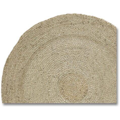 Rund beige Hampamatta från Artwood