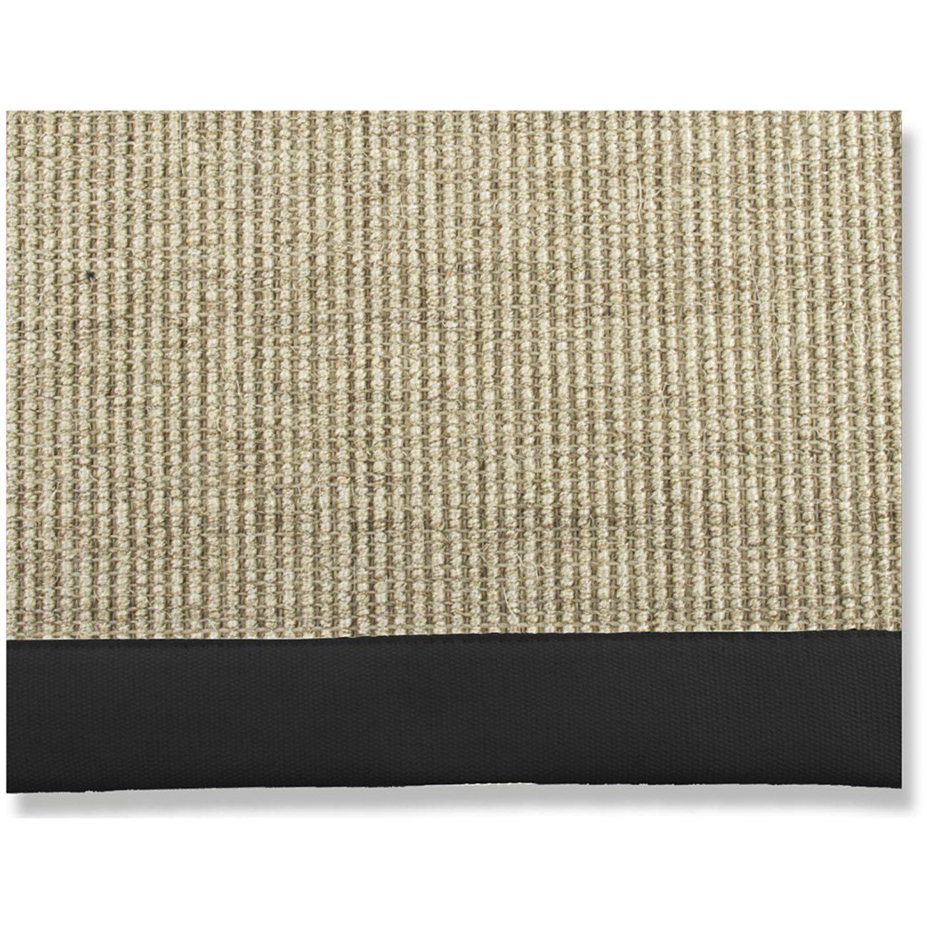 Sisal Black hampa matta med svart kant från Artwood