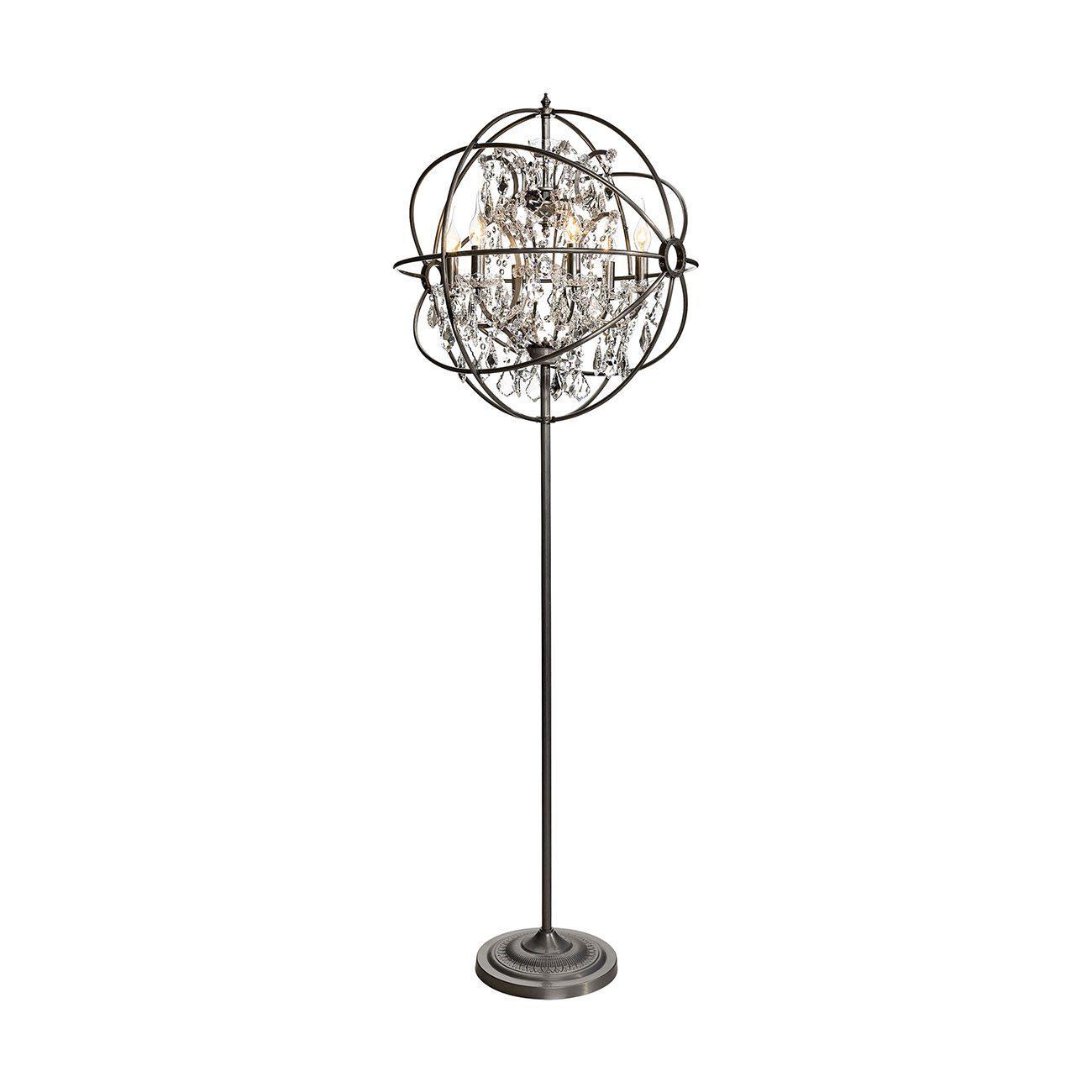 Gyrop golvlampa i silver med kristall från Artwood.