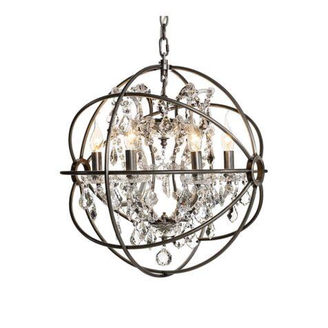 Gyro taklampa liten i silver med kristall från Artwood.