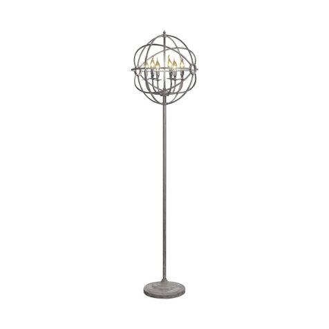 Gyro golvlampa i silver metall från Artwood.