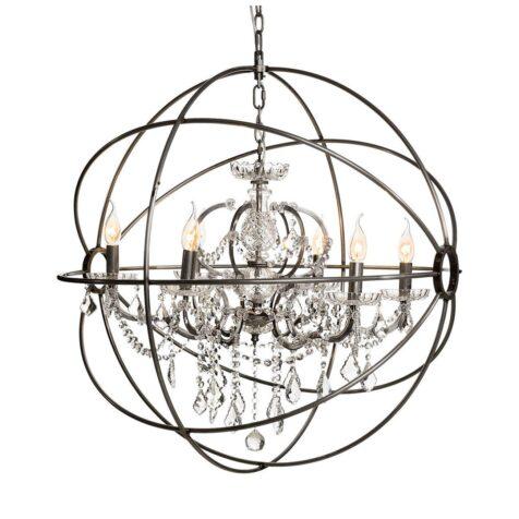Gyro taklampa kristallkrona i silver från Artwood.