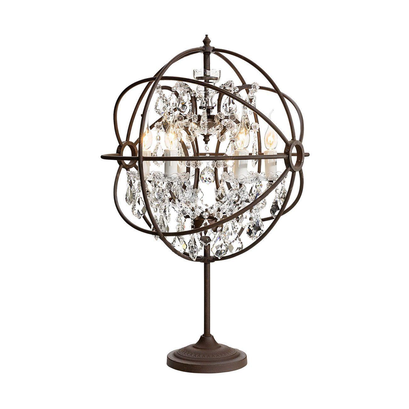 Gyro bordslampa antik rost kristall prismor från Artwood.