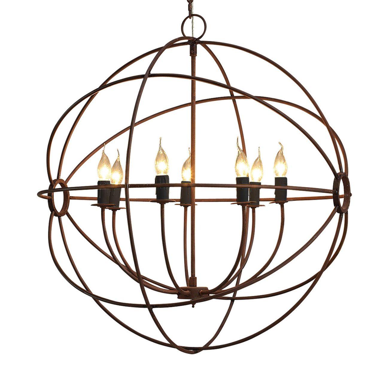 Gyro stor taklampa i antik rost metall från Artwood.