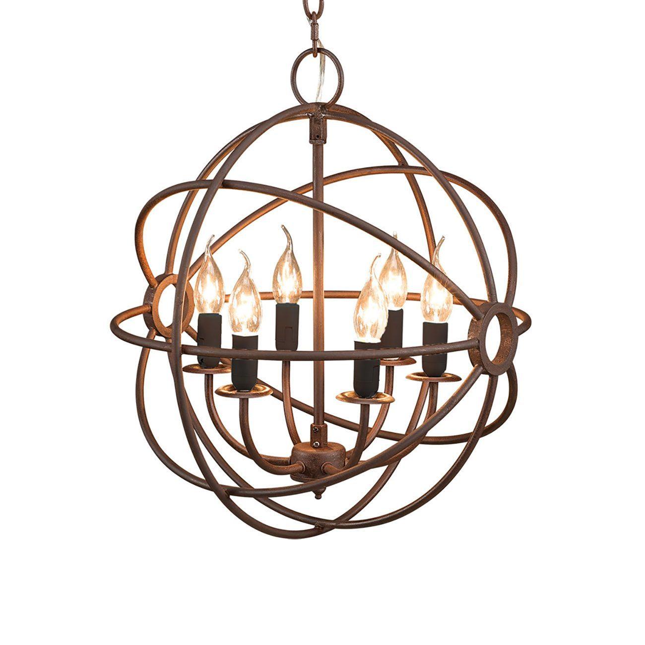 Gyro liten taklampa i metall från Artwood i färgen antik rost.