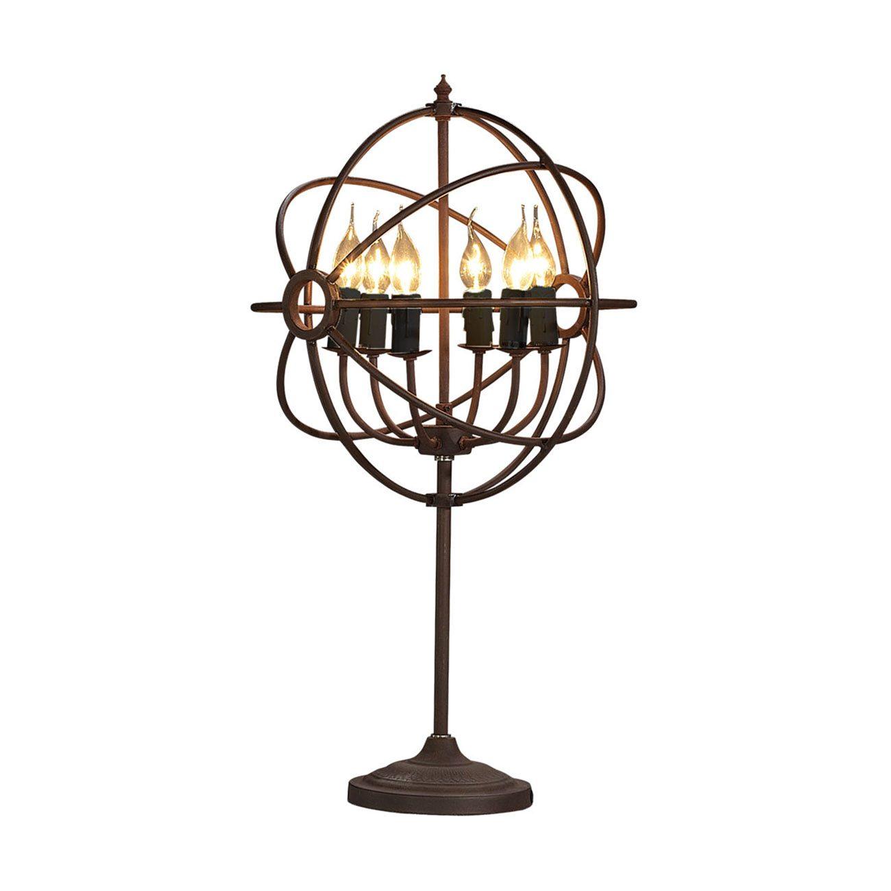 Gyro bordslampa ljuskrona rost antik ifrån Artwood