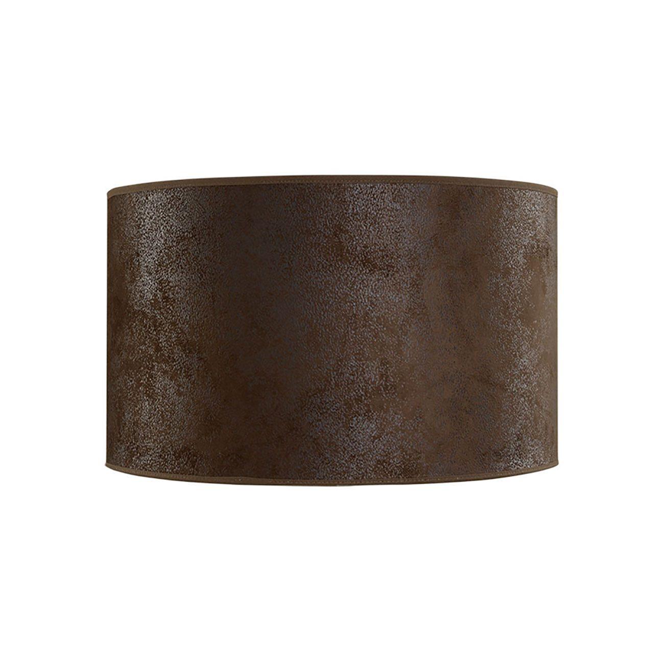 Cylinder lampskärm i storleken 25 cm från Artwood, denna i brun mocka.