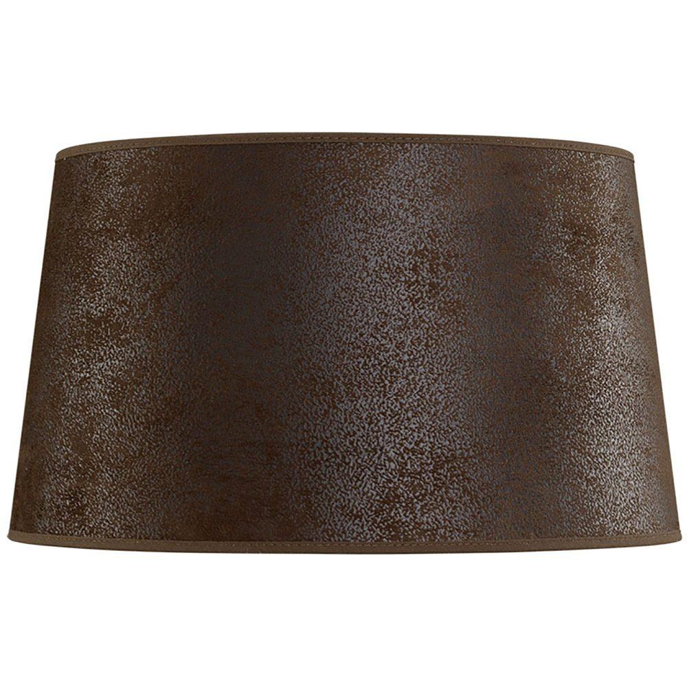 Classic lampskärm i brun mocka från Artwood.
