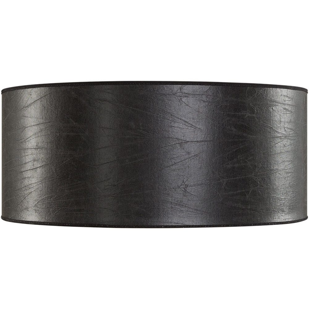 Cylinderformad lampskärm i svart skinn från Artwood.