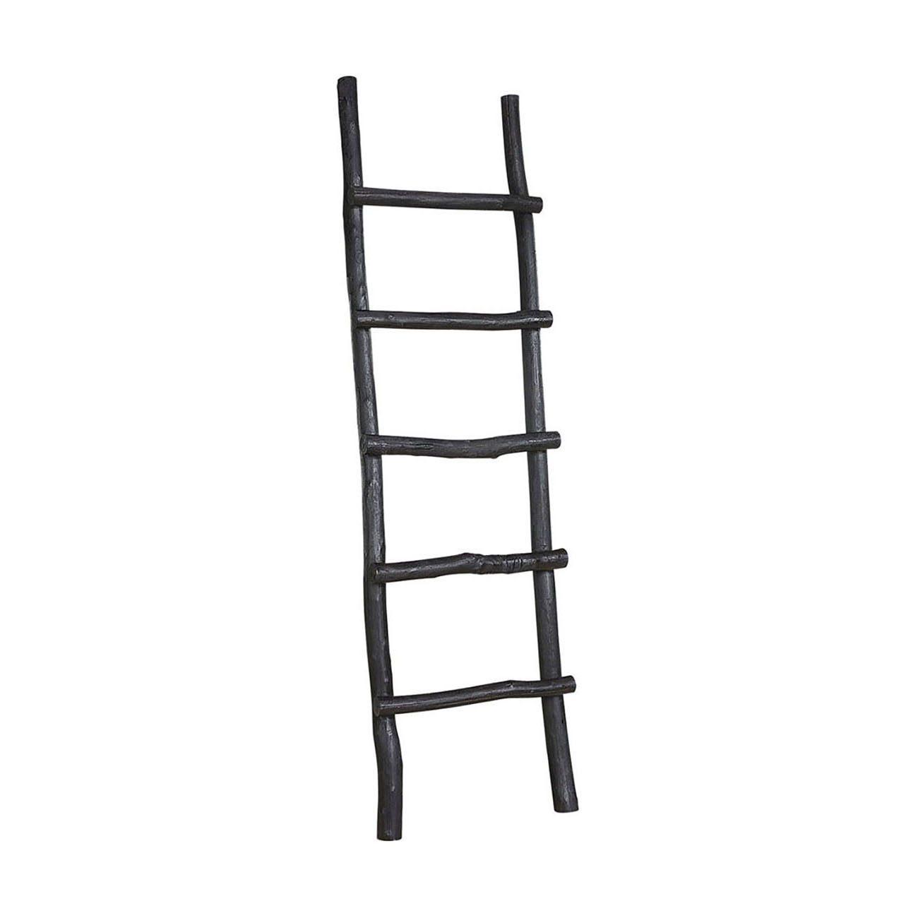 """Svart stege """"Ladder"""" från Artwood, tillverkad i Creekwood."""