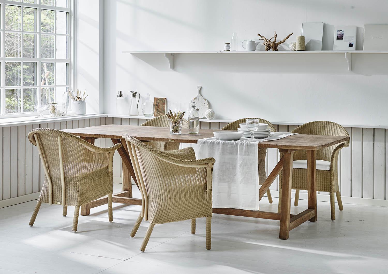 Classic stol i naturfärgad Loom från Sika-Design.