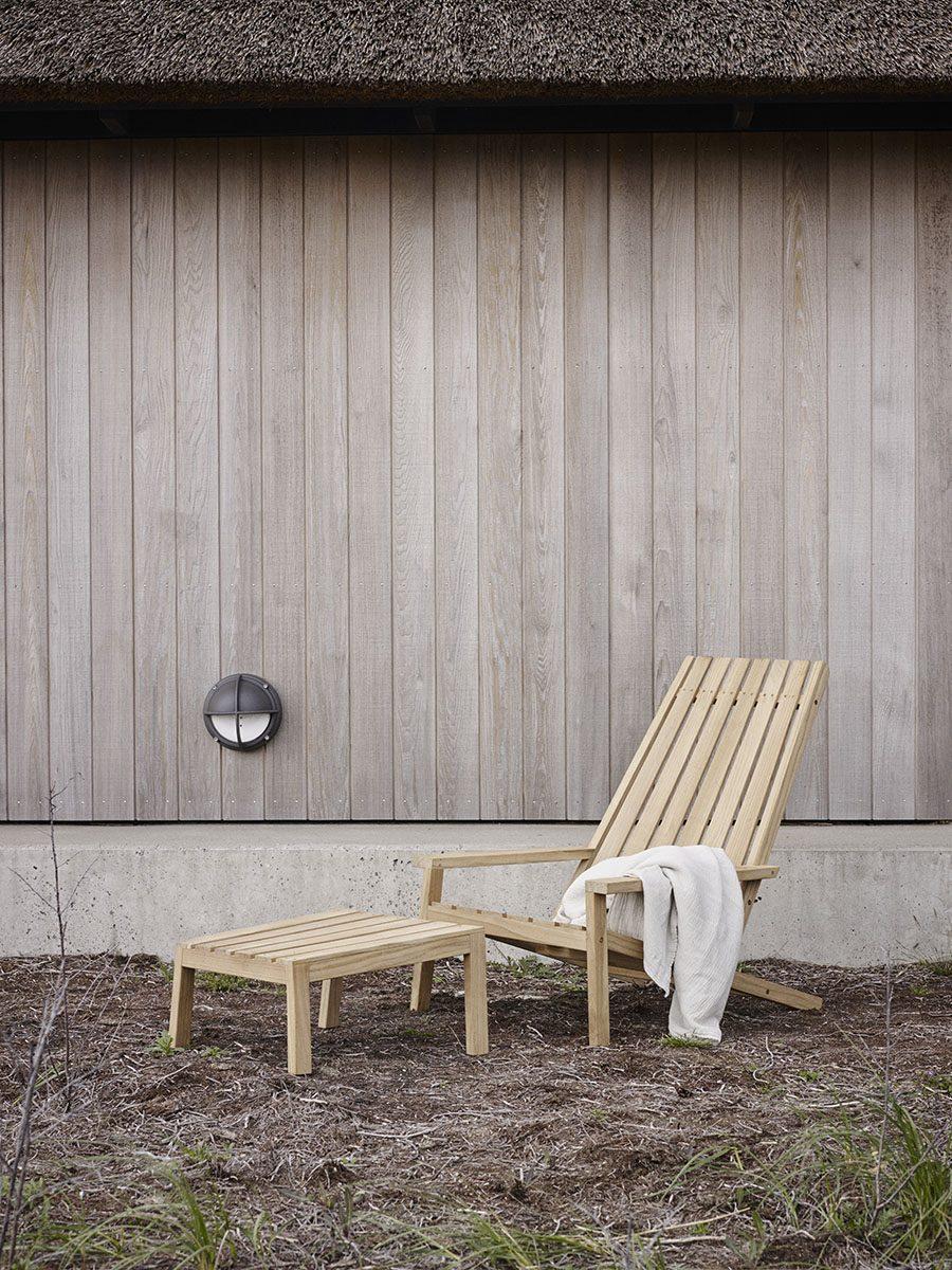 Däckstol between lines i teak från skagerak, miljöbild