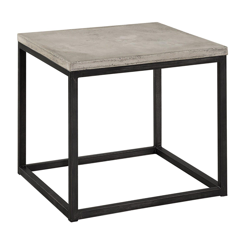 Yoshi sidobord i lättbetong och stål från Artwood.