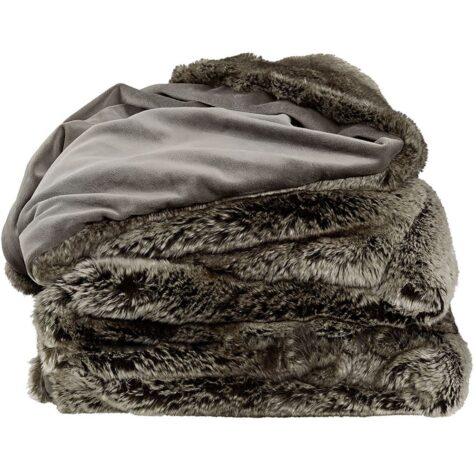 Grey Bear pläd från ARtwood i pälsimitation. stor storlek 150x260 cm.