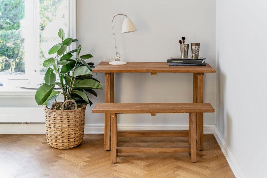 Sika-Design Lucas bänk teak och Lucas bord 110x60 cm