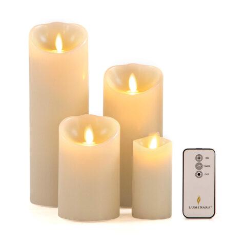 Luminara ljus för inomhus i fyra olika storlekar.