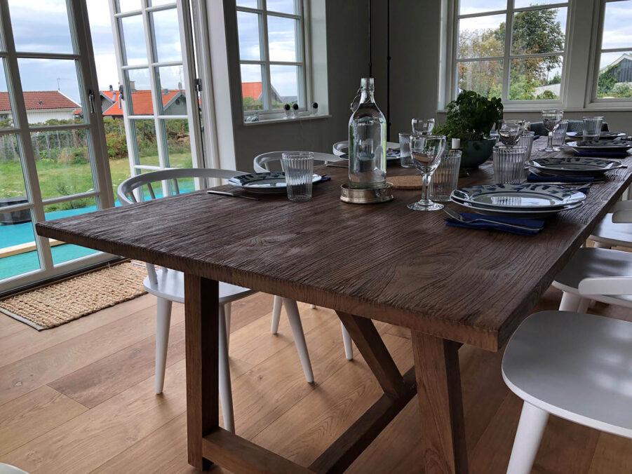 Närbild på Lucas bord från Sika Design.