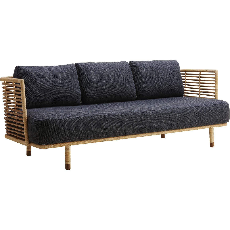 Sense soffa med grå dyna.