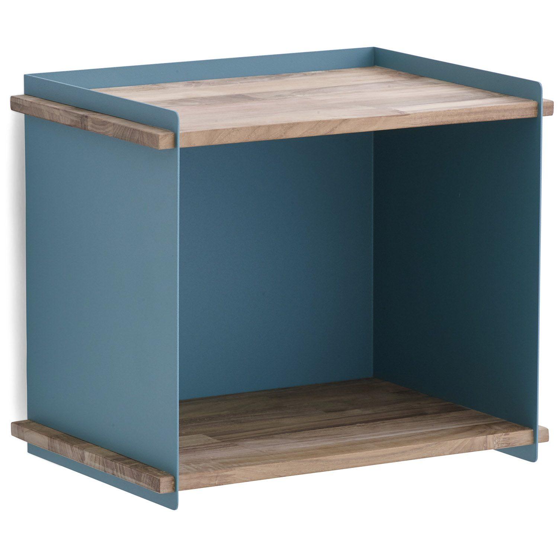 Box väggförvaring från Cane-line i en blå färg. Tillverkad i teak och aluminium., i färgen aqua
