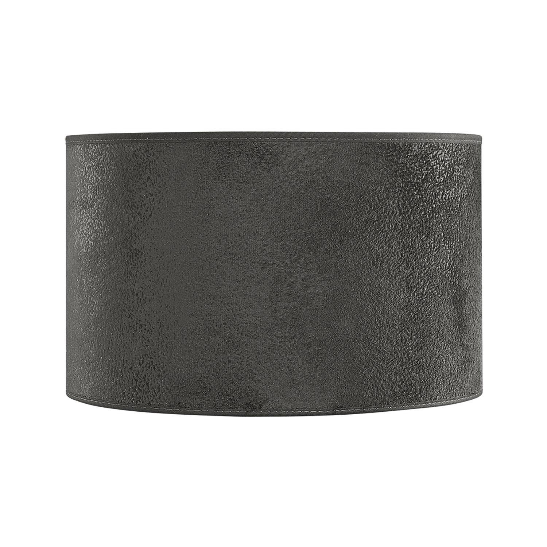 Liten cylinder lampskärm i grå mocka från Artwood.