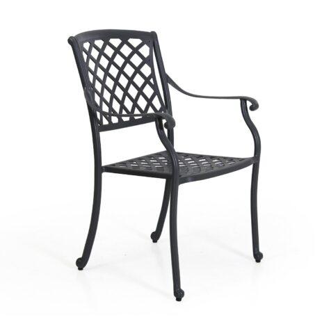 AArras karmstol i grå aluminium från BRafab.