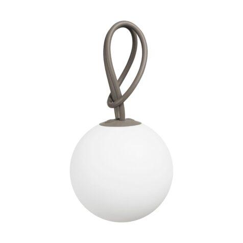 Fatboy Bolleke lampa med färgen taupe på snodden.