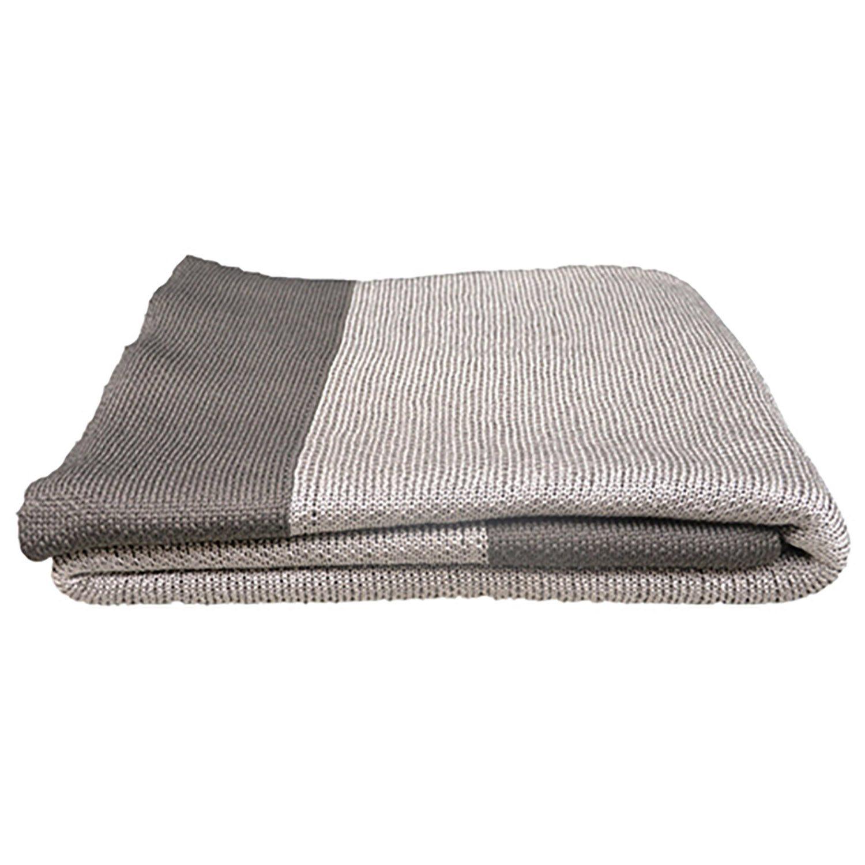 Stay Warm granitgrå pläd 110x170 cm från Cane-line