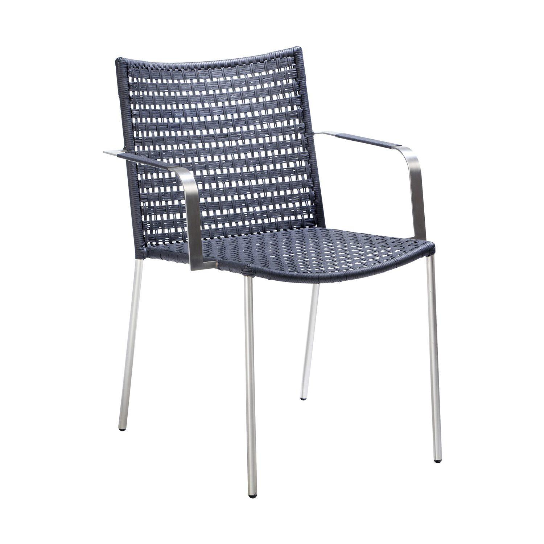 Straw karmstol med platt flätning från Cane-line