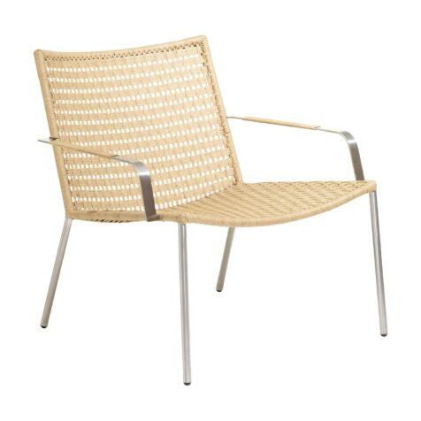 Straw lounge fåtölj i platt flätning natur från Cane-line.